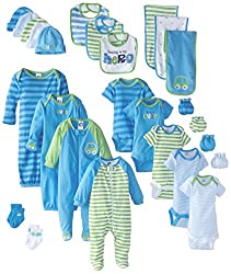 Gerber Baby Boys' 26 Piece Seriously Cute Gift Set, Car&Stripe, 0-3 Month
