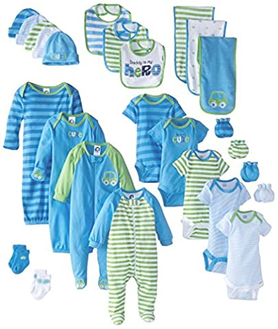 Gerber Baby Boys' 26 Piece Seriously Cute Gift Set, Car&Stripe, 0-3 Month - Gerber Toddler Bib