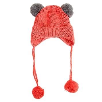 Children S Velvet Earmuffs Baby Warm Cap Knitted Hat Winter Warm