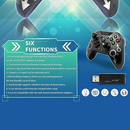 Xbox Wireless Controller[2020 Latest Version] with 2.4GHZ Wireless Adapter, Dual Vibration Gamepad Compatible with Xbox One/One S/One X/PS3/Windows PC 7/8/8.1/10
