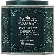 Harney & Sons Earl Grey Imperial Tea Tin - Fine Black Tea with Natural Bergamot - 2.35 Ounces, 30 Sachets