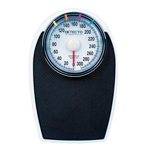 Detecto D1130 Large Dial Bathroom Scale, 300 lb Capacity