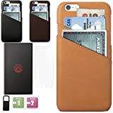 iPhone 7 Leather 4.7 inches Slim Luxury Wallet Case with Card Slots for Credit Card Id and Cash- Complimentary Tempered Glass and Phone Stand With Box Packing by Morion (Box Set Cognac Brown)