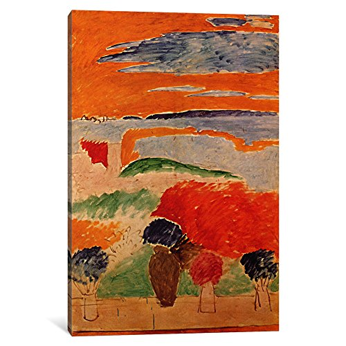 Henri Matisse Art Canvas - iCanvasART 1-Piece An Open Window '1913' Canvas Print by Henri Matisse, 0.75 x 8 x 12-Inch