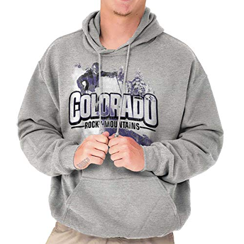 Colorado Rocky Mountains Aspen CO Ski Trip Hoodie Sweatshirt Sport Grey