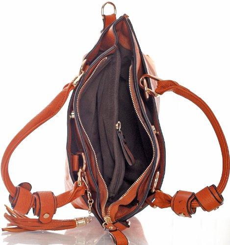 Big Handbag Shop - Bolso estilo cartera para mujer One rosa oscuro
