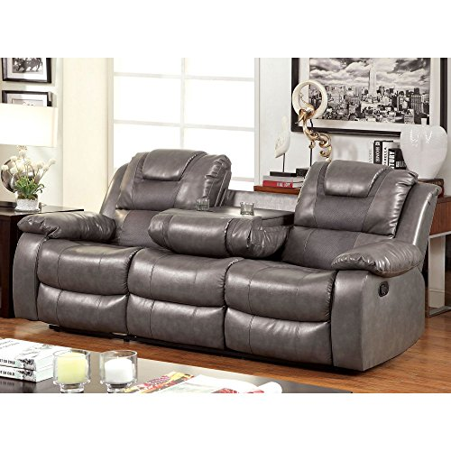 Furniture Of America Claybrooks Recliner Sofa With Cushions Best Sofas Online Usa
