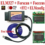 elm327 software - OTKEFDI ELM327, Forscan ELM 327- HS-CAN MS-CAN Modified ELM327 OBD Self Diagnostic Tool Compatible Forscan Focccus ELMconfig FF2 Software Focus Mondeo Kuga Edge Exploror F50 Taurus Everest Escort