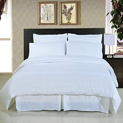Royal Hotel Microfiber Duvet Cover Set - Lightweight and Ultra Soft - Wrinkle-Free Double Brushed, Solid Comforter Cover with Button Closure and 2 Pillow Shams, King - White ()