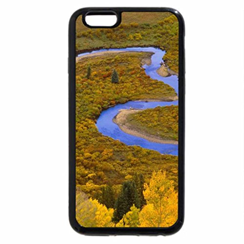 iPhone 6S / iPhone 6 Case (Black) Winding Autumn River