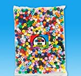.25'' x .75'' ASSORTED PONY BEADS, Case of 30