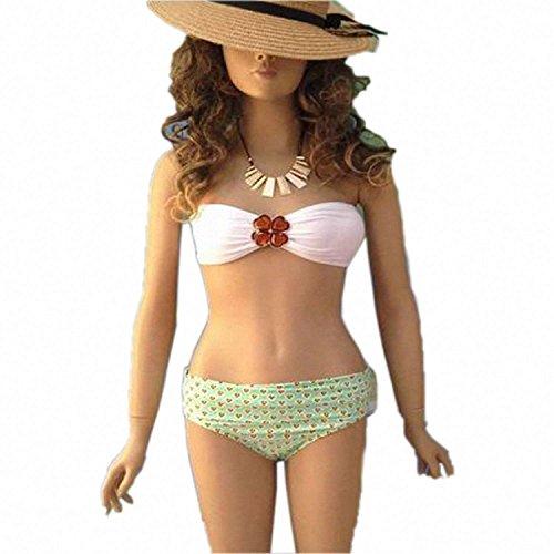 Jongood Stylish Lady Swimwear Jeweled Bandeau Bikini as ()