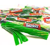 Twizzlers Green Apple Pull-n-Peel Licorice Twists 2 Pounds Pack Wrapped Twizzlers Candy