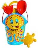 Androni Beach Pail and Sand Toy Set, Octopus (6-Piece)