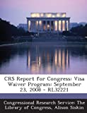 Crs Report for Congress, Alison Siskin, 1295247089