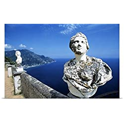 Great BIG Canvas Poster Print entitled Villa Cimbrone Ravello Italy