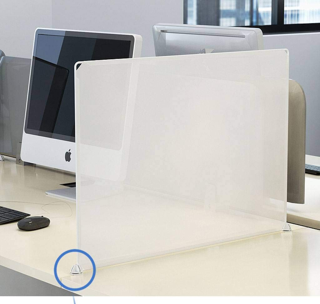 HKPLDE Protective Sneeze Guard restauranger, för matbord skrivbord, fristående Clear Resin Shield Food Screen-120 x 45 x 30 cm 50x70cm