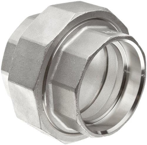 Stainless Steel 304 Cast Pipe Fitting, Union, Socket Weld, MSS SP-114, 1/2