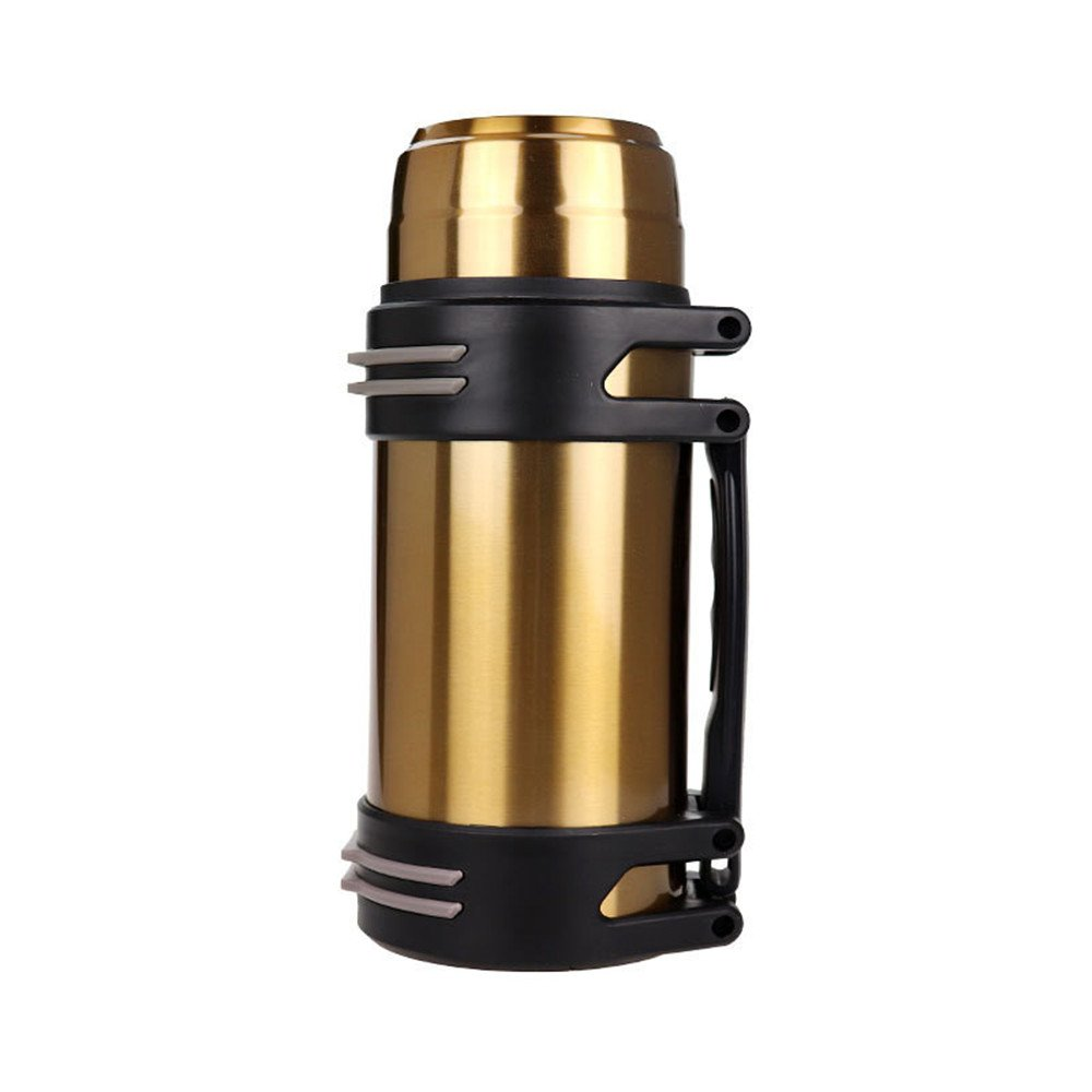 耐久性のある バキュームカップ ポータブル アウトドア 漏れ防止 ステンレス製 スポーツカップ ゴールデンと   B07JDBPHGH