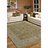 Magi Hand-knotted Faith Brown/ Beige New Zealand Wool Rug (2' x 3')