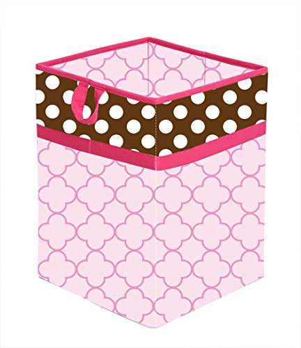 Bacati Collapsible Storage Hamper, Butterflies, Pink/Chocolate, One Size