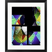 Fish Parts by Dana Brett Munach Framed Art Print Wall Picture, Black Frame, 22 x 27 inches