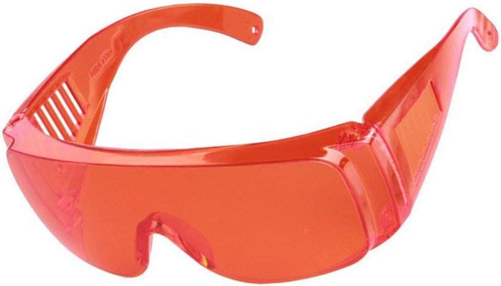 Formulaone Protección Laboral Industrial Gafas Contra Láser Infrarrojos Gafas Protectoras Lentes De Pc Antivaho Anti-Uv Anti-Impacto Desgaste De Los Ojos - Naranja Rojo