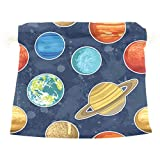 Dragon Sword Solar System Planets Gift Bags Jewelry Drawstring Pouches for Wedding Party, 12x14 Inch