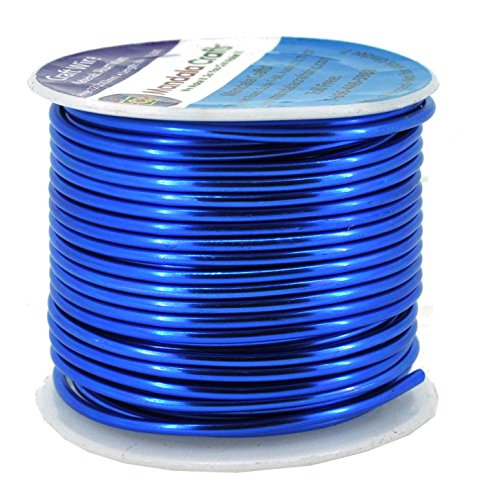 Mandala Crafts Anodized Aluminum Wire for Sculpting, Armature, Jewelry Making, Gem Metal Wrap, Garden, Colored and Soft, 1 Roll(12 Gauge, True Blue)