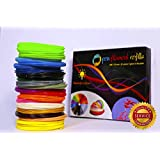 3D pen Filament refills 22 Colors 440 Linear Feet of 3D refills 1.75mm pen Filament. BONUS 3 Glow In The Dark colors