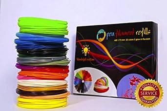 amazon com 3d pen filament refills 22 colors 440 linear