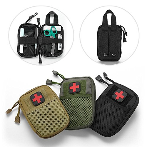 LIVIQILY Tactical Medical kit molle Accessory kit Camping First Aid Kits  Medicine Storage Bag Portable Package Emergency Medical Kit Survival  Medicine Pills ... 07d5135d05fd9