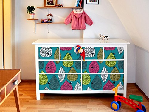 yourdea Muebles de pantalla para cómoda de Ikea hemnes 8 cajones/Muebles de pegatinas para diseñar Incluso/ - pegatinas adhesivas con diseño Herbario ...