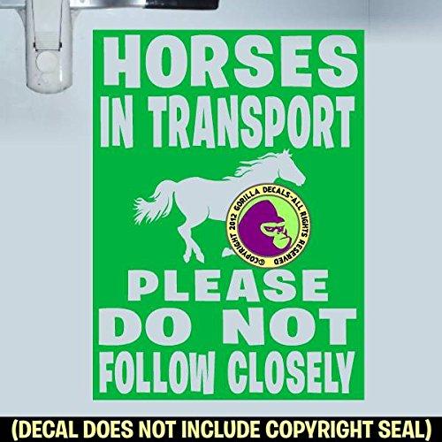 HORSES IN TRANSPORT Trailer Vinyl Decal Sticker F