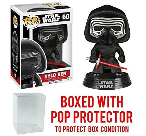 Funko Pop! Star Wars: The Force Awakens - Kylo Ren #60 Vinyl Figure (Bundled with Pop BOX PROTECTOR CASE)