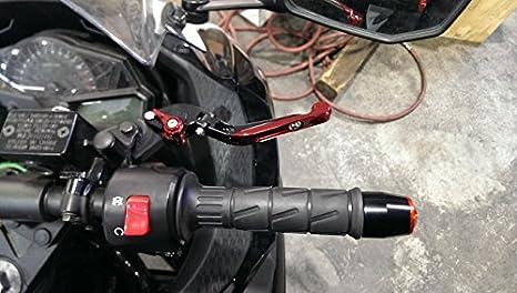 FXCNC Racing CNC aluminium pliable extensible r/églable leviers dembrayage de frein pour KAWASAKI ZX-6 W800 W800SE NINJA 650R ER-6F ER-6N VERSYS 650cc ZX9R