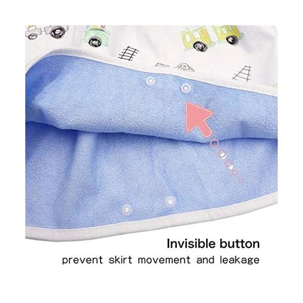 Teekit Comfy Childrens Diaper Skirt - Pantaloncini impermeabili e assorbenti per bambini 7