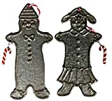 Retired Midwest of Cannon Falls 2 Assorted *Gingerbread Girl & Boy* Ornaments