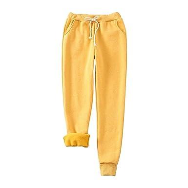 Mujer Pantalones de Harén Cálidos Plus Cachemira Pantalones de ...