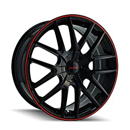 Touren TR60 3260 Wheel with Black Finish with Red Ring (16x7\