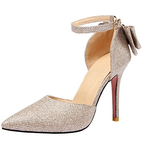 Zanpa T Mode With Donna Gold Strap Fiocco Sandali qARBpwqxn