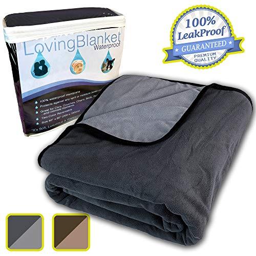 LovingBlanket 100% Leak Proof, Waterproof (Queen / King) Totally Pee Proof, EZ-Wash, Durable, 3 Layer Blanket | Baby…
