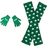 St Patricks Shamrock Leg Warmers and Irish Hand Gloves - 2 Pack