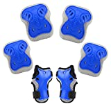 Kids Protective Gear Set, BROTOU Safety Pad Safeguard Support Pad for Knee, Elbow Pads and Wrist Guards for Rollerblading, Skating, Volleyball, Basketball, BMX(One Size)