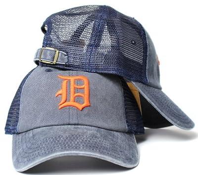 Detroit Tigers MLB American Needle Raglan Bones Soft Mesh Back Slouch Twill Cap Navy