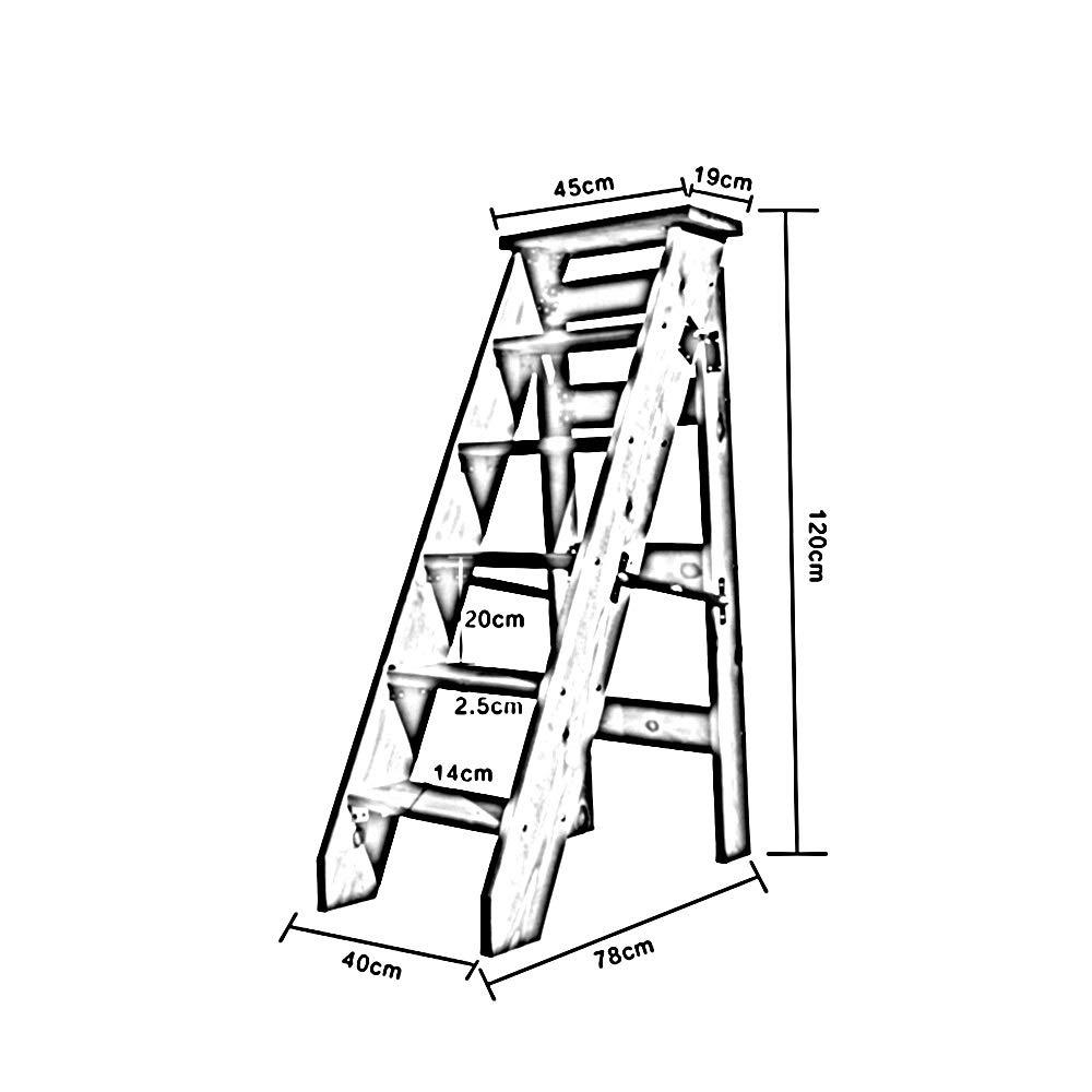 gr/ö/ße : 5 Steps Massivholz Faltbare Ladder f/ür Attic Ascend einseitig 5//6 Stufen Bseack/_store Leiter Herringbone Ladder