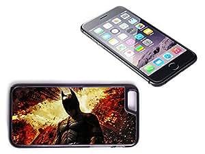 iPhone 6 Black Plastic Hard Case with High Gloss Printed Insert Batman