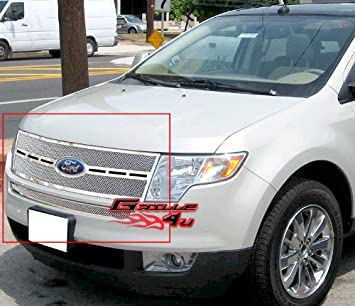 Amazon Com Aps Fits   Ford Edge Stainless Steel Mesh Grille Insert Ft Automotive