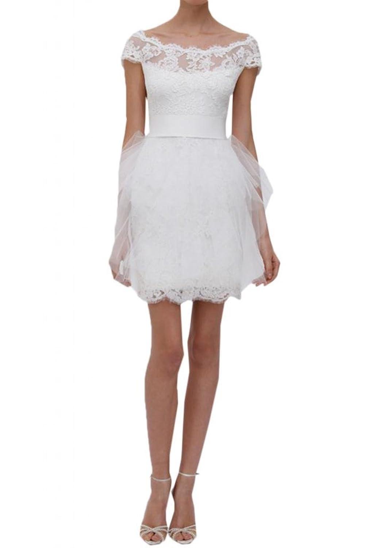 TOSKANA BRAUT Hochwertig Abendkleider Kurz Spitze Tuell Braut Cocktail Party Ball Hochzeitskleider
