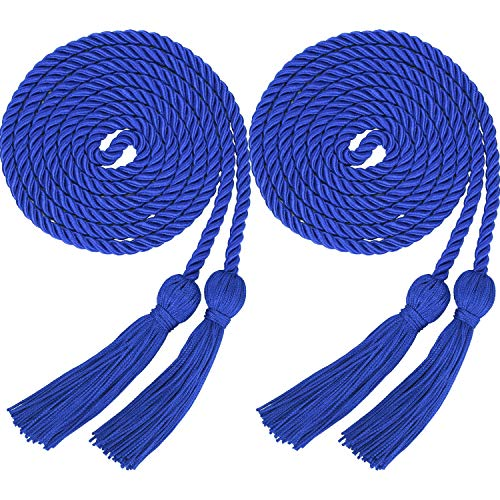 2 Pieces Graduation Cords Polyester Yarn Honor Cord with Tassel for Graduation Students (Blue) ()